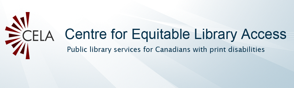 Logo for the Centre for Equitable Library Access (CELA)