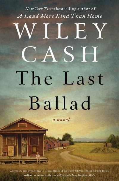 Book cover: Shows a one-room cabin at the side of a dirt road which winds into the background, pictured at either dawn or dusk, as indicated by the reddening sky in the distance.