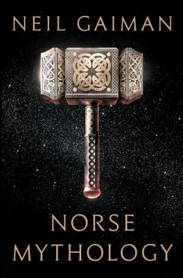 Book cover: Norse hammer decorated with knotwork. Similar to a sledge hammer but with a very short handle (like Thor's).