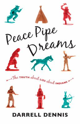 Book cover: Colourful plastic 'cowboy and indian' pieces illustrating sterotypes.