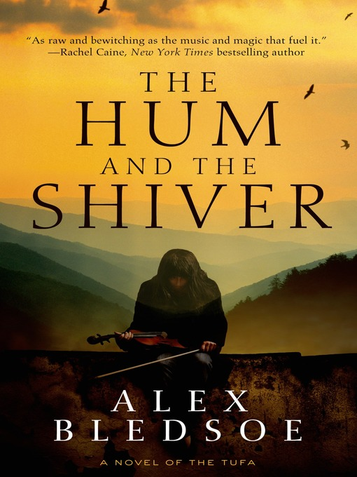 Book cover: Shows lovely mountain vista in yellows and greens in the background, while in the foreground a young woman removes a fiddle from a case.