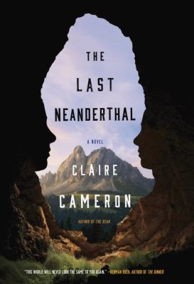 Book cover: Scenic view of mountain, taken from inside a cave. The entrance to the cave consists of a man and a woman in profile, man on the left, woman on the right.