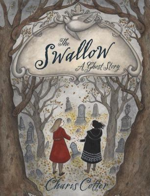 Book cover: Two young girls in a graveyard, one in red, one in black. Trees lean in menacingly.